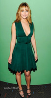 Wholesale Free Games Lines - Free Shipping jennifer lawrence hunger games premiere Emerald green Sleeveless Chiffon Celebrity Inspired Fashion Evening Dresses