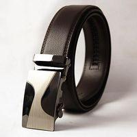 Wholesale Size 12 Men - 2016 New designer big size 130cm long automatic belt buckle mens genuine leather belt black 12 style brand belts for men strap