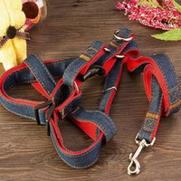 Wholesale Dog Fabric Collars Leads - Pet Factory Provide Dog Collar and Leash S M L XL 4 Sizes Nylon Cowboy Fabric Leash Lead with Hook