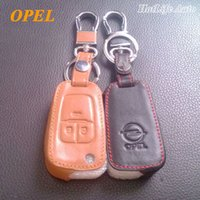 ingrosso chiavi opel vectra-Portachiavi in vera pelle per Opel Astra h g j Corsa Antara Meriva Zafira Insignia Mokka Vectra Copertura chiave auto remoto
