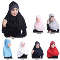 muslime mädchen schals großhandel-Moslemischer Silk Rhinestone-Gurt hijab Schalart und weise Dame-Mädchenmützen Frauen Bandanas Schal