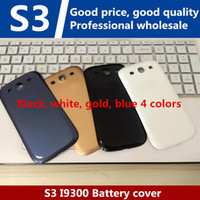 Wholesale S3 Cover White - For Samsung Galaxy S3 I9300 OEM Back Chassis Housing Bezel For GT-I9300 Battery Door Cover Free Shipping