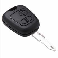 Wholesale Peugeot Auto Parts - auto parts car 2 buttons remote key blank shell fob key case for citroen peugeot 206 key cover without logo