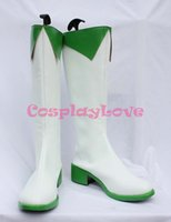 ingrosso vocaloid natale cosplay-All'ingrosso-Custom Made Anime giapponese Vocaloid GUMI (Megpoid) Scarpe Cosplay Stivali per Natale Halloween Party Compleanno