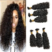 Wholesale 28 inch bulk hair weave online - Water Wave Mongolian Hair Weave Human Hair Bulk Can Be Dyed And Bleached Natural Color Bulk Hair No Attachment FDSHINE