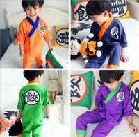 Wholesale Boy Cothes - Kids Casual Pajamas Sets,Summer Japanese Cothes Sets.Kids Kimono Kids Sleepwear for 2~16 Year Kids