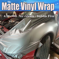 Wholesale Rolled Roofing - Gunmetal Grey Matte Vinyl Wrap Anthracite With Air Bubble Free Dark Gray Metallic Matt Film Vehicle Wrapping size 1.52x30m Roll 5x98ft