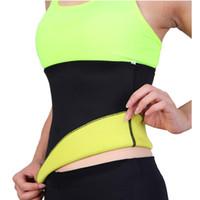 ingrosso trasporto libero dell'allenatore della vita-Cintura Sweat di Trasporto libero Body Shaper Cinture dimagranti per le donne Allenatore vita Cincher Underbust Corset Trimmer Tummy Control Binder
