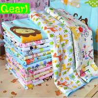 Wholesale Crib Pad Waterproof - 19 Colors 50*70cm Newborn Changing Flannel Pad Bamboo Fiber Urinal Pad For Crib Bed Waterproof Cotton Cloth Changing Mat