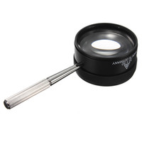 Wholesale Glass Handle Magnifying - Hot Sale 35X50mm Jewelry Magnifying Optics Glass Handle Loup Magnifier Watch Repair Tool Magnifier Reading