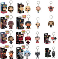 Wholesale Harry Potter Hermione - Funko Pop Moti character Rick harry potter hermione original keychain harry potter cole game of throns Jon Snow chain