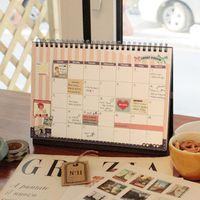 Wholesale Notepad Stand - High quality office use New 2017 Diy Print Desk Calendar Desktop To Do List Daily Planner Book Office Desk Supplies Standing School Korean