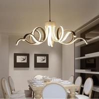 Wholesale lamparas techo led - Modern Chandeliers Led Lustres White Lamparas De Techo Luminaria Light Avize For Restaurant Cafe Dinning Room Industrial Home Lighting Lumin