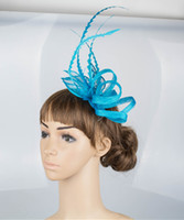 Wholesale Sinamay Bridal Fascinator Hat - 17 colors attractive sinamay material fascinator headpiece church hair accessories bridal hat suit for all season MYQ011