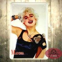 Vintage Madonna Metallschilder Eisen Wandgemälde für Bar / Kaffee / Restaurant Home Decoration / Decals G-45 20 * 30cm 160909 #
