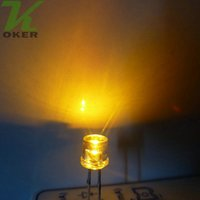 lado plano de ângulo largo venda por atacado-1000 pcs 5mm Amarelo Flat top LED Lâmpada Luz LED Diodos 5mm Flat Top Ultra Brilhante Grande Angular LEDs