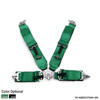 "Wholesale Black Race Harness - New 1 Set Black   Green 3"" 4 POINTS Car Seat Belt with FIA 2020  Harness Racing Safety Seat Belt TK-AQD022TAN4"