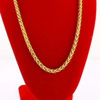 Wholesale Gold Plated Byzantine Necklace - Collar Chain 18k Yellow Gold Filled Byzantine Necklace Gift 45cm