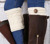 Wholesale Leg Shapes - 2017 Newest style leg warmers socks women socks double thickening W shape button leg warmers yzs168