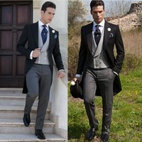 Wholesale Cheap Black Coat For Men - New Arrival Cheap Wedding Mens Suits Separates Bridegroom Tailcoat For Men Groomsmen Formal Business Slim Fit Prom Suit Only For The Coat