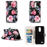 Wholesale Iphone C Case Wallet - Fashion Skull Dreamcatcher Leather Wallet Case For Moto C Plus G5 For LG K8 K10 2017 Rose Flower Lace Cover ID Card Slot Stand Holder Pouch