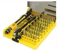 conjunto de herramientas de broca de destornillador al por mayor-Nuevo juego de destornilladores de precisión pequeños 45 en 1 Multi-Bit Herramientas Reparación Torx Screw Driver Ordenador portátil / computadora / herramienta de reparación móvil