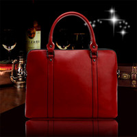 Wholesale Big Computer Bag - Totes Fashion Bags Autumn Winter New Leather Handbags Big Bag Business Leather Leather Briefcase Women 's 14 - Inch Computer Bag