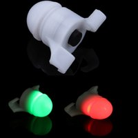New 2 en 1 LED Night Fishing Rod Tip clip Fish grève Bite Alert Alarm Livraison gratuite Portable Light Mini