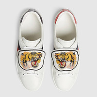 Wholesale womens tiger tops - New Designer Low Top White Leather Tiger Blind for Love Pineapple Embroidery G G Luxury Sneakers for Mens Womens
