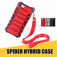 Wholesale gold house for iphone resale online - For iPhone Cases in Hybrid Fashion Spider Design with Hanging Rope Phone Housing for X plus Galaxy Note8 S8 Plus
