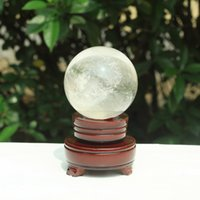 Barato Cristal Esfera Stands-HJT 4200g Atacado Natural Clear bola de cristal Gemstone Sphere Healing Reiki Crystal balls Home Decorations free shipping + stand
