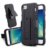 futuro apple iphone al por mayor-Para el iphone 7 7plus Future Armor Impact Hybrid Hard Case Cover + Clip Holster Kickstand Combo a prueba de golpes para el iphone 6 6s más 5 5s