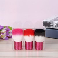Wholesale Brown Acrylic Nails - New Blush brush Colorful Nail Tools Brush For Acrylic & UV Gel Nail Art Dust Cleaner Nail Brush fast shipping F20172126