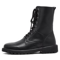2017 Retail And Wholesales New Arrival Men's Boots Estilo de moda para botas de couro preto masculino
