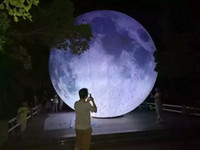 Wholesale Inflatable Store - (specialty store) inflatable moon ball Artificial moon simulation moon included LED, air pump, use for Big Party,festival celebra