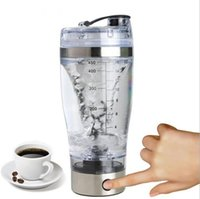 Wholesale Wholesale Plastic Electric Kettle - 450ml BPA Free Protein Shaker Vortex Tornado Blender My Water Bottle Portable Electric Automatic Movement Mixing Mixer Smart Cup