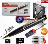 Wholesale Ink Fill - Hotsale Spy Pen 1080p SPECIAL OFFER Hidden Camera BUNDLE 16GB SD Card HD Voice Video+ Upgraded Battery+5 ink Fills Inc+USB SD Reader gift