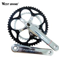 Wholesale Speed Crank - Wholesale-Bicycle Crank Bike Chain Wheel Flooding Road MTB Bike Parts 9 Speed 39*53T Bike ChainWheel 170 175mm Bicycle Crank Set