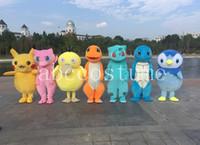 Wholesale Mascot Costume Wedding - Poke Mascot Costume Poket Pikachu Squirtle Mascot costume free shipping Halloween Birthday Wedding Cartoon Characrer mascot costume M0002