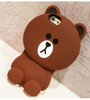 Wholesale teddy bear phone cases online - Cartoon Capa Case D Teddy Bear Coque Silicone Phone Cases For iPhone s plus for iphone plus