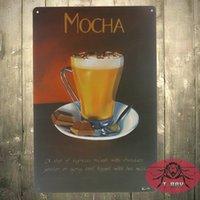 Wholesale Coffe Shop - TIN SIGN MOCHA COFFE Medal Decor Art Gas Oil Gas Garage Shop Bar F-124 160909#