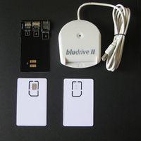 Wholesale Sim Card Reader Adapter - Blutronics Bludrive II LTE FDD WCDMA CCID SIM USIM 4G Smartcard Reader Writer Programmer Tools+2PCS LTE Blank USIM Card+1*SIM Card Converter