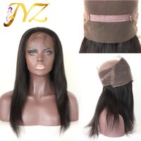 Wholesale Brazilian Bands - 360 Lace Band Frontal Closures Straight Ear To Ear Lace Frontal Closures With Baby Brazilian Virgin Human Hair Lace Closure