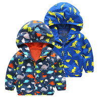 Wholesale Boys Rain Jacket - Wholesale- Kid Boy Waterproof Strombreak Windproof Hooded Jacket Children Rain Coat Clothes