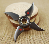 Wholesale Cosplay Naruto Boy - Rotatable Naruto uzumaki Shuriken cosplay prop toys Ninja Weapon for women men fans jewelry 170456