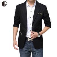 Wholesale mens suites - Wholesale- Plus Size 4XL Blazer Jacket Male 2016 Brand Mens Slim Fit Suits Causal Cotton Jacket MB051Autumn Patchwork Coat Male Suite