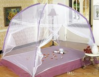 Wholesale 2016 New Fine Mesh Mosquito Net Mongolian Yurt Good Sleep Mosquito Nets For Double Bed Netting With Zipper Double Door