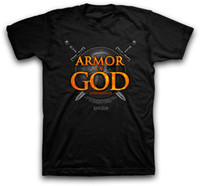 Wholesale Custom Made Armor - Armor of God NEW Christian Kerusso Black Short Sleeve Tshirt XL Custom Made Good Quality T Shirt