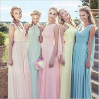 Wholesale Beach Bridesmaid Halter Dresses - Womens Maxi Dress Party Dress Womens Maxi Dress Hot Womens Lace and Chiffon Party Dress Boho Long Maxi Evening Party Dress Beach Dresses