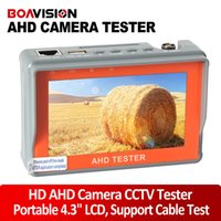 Wholesale Testing Cctv Cabling - 4.3 inch HD AHD camera tester CCTV Tester monitor AHD 1080P 720P AHD Analog camera testing UTP cable test 5V 2A,12V 1A output